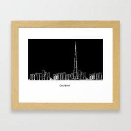 Dubai Skyline - Black Base Framed Art Print
