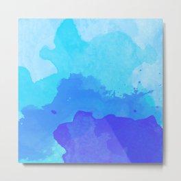 Beach Bright Blue Metal Print