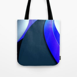 Black and Blue Modern Tote Bag