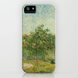 Garden with Courting Couples - Square Saint-Pierre by Vincent van Gogh iPhone Case