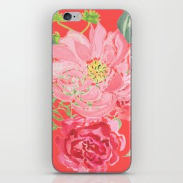 Pink Floral Watercolor iPhone Skin