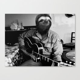 Rockstar Sloth #3 Canvas Print