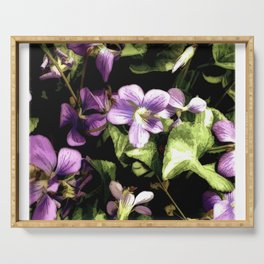 Wild Violets Serving Tray