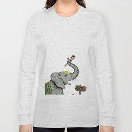 Do Not Ride The Elephant Long Sleeve T-shirt