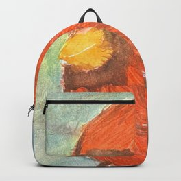 Red Cardinal in Winter Backpack