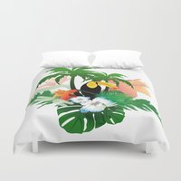 toucan Duvet Covers featuring Toucan by nicky2342