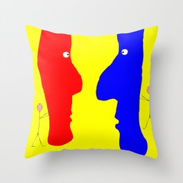 Eye to Eye, a Good Front Throw Pillow