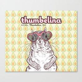 Little Thumbelina Girl: heart sunnies Canvas Print