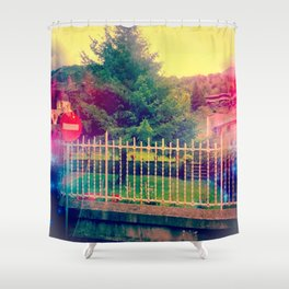 Why Here Shower Curtain
