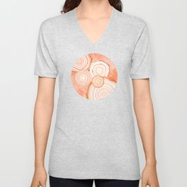 Coral Agate Abstract Unisex V-Neck
