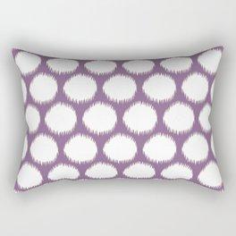 Violet Asian Moods Ikat Dots Rectangular Pillow