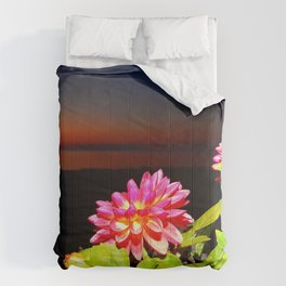 Flowers at Night Comforters