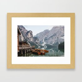 Day at the Mountain Lake Framed Art Print