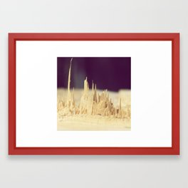 Wodden skyscrapers Framed Art Print