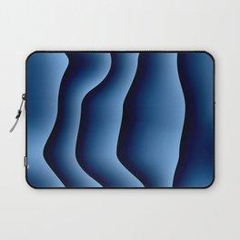 Blue Satin Stripes Laptop Sleeve