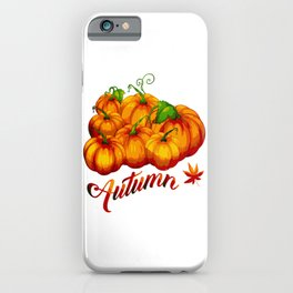 AUTUMN PUMPKIN HARVEST iPhone Case