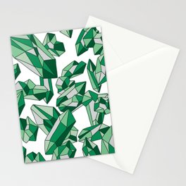 Falling crystals #2 Stationery Cards