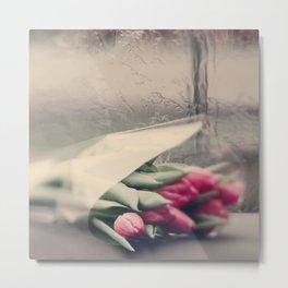 tulips on a rainy day Metal Print
