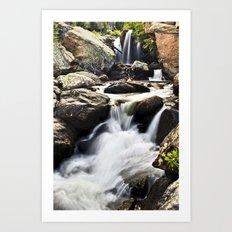 Waterfalls at Rocky Mountain Nat'l Park Art Print