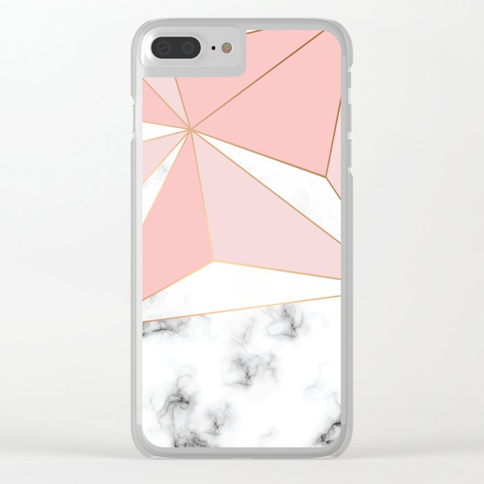 Marble & Geometry 042 Clear iPhone Case