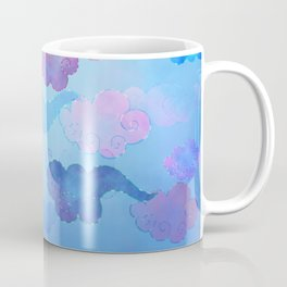 Whimsical dreamy colorful clouds in the sky Coffee Mug