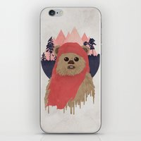 ewok iPhone & iPod Skins featuring Ewok by Robert Scheribel