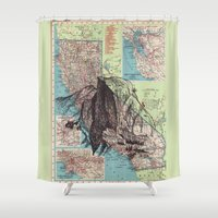 california Shower Curtains featuring California by Ursula Rodgers