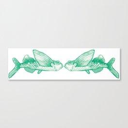flying fish mirror Canvas Print