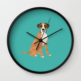 Boxer dog breed gifts for pure breed boxer dog lovers Wall Clock