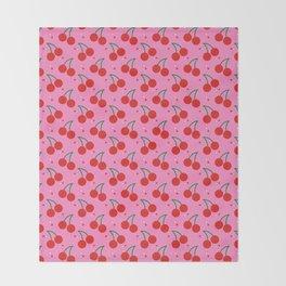 Cherry Bomb Pattern Throw Blanket