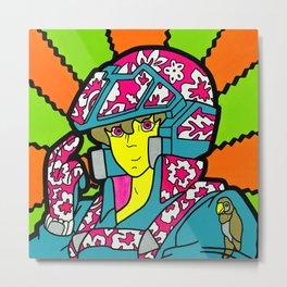 Veri-Tiki Pilot - pop art painting, robotech Metal Print