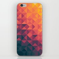 infinity iPhone & iPod Skins featuring Infinity Twilight by Picomodi