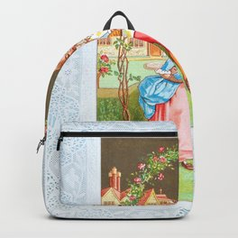 Kate Greenaway - Valentine 1880 - Digital Remastered Edition Backpack