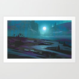 Dark Valley Art Print