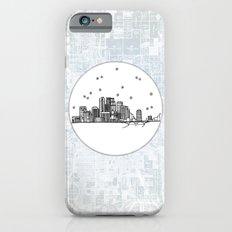 Minneapolis, Minnesota City Skyline Illustration Drawing iPhone 6s Slim Case