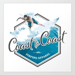 Surfing Coast to Coast Art Print