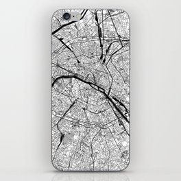 Paris Black and White Map iPhone Skin