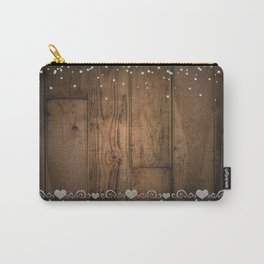 Rustic Glam Diamond Sparkles Carry-All Pouch
