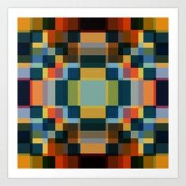 Tantankororin - Colorful Decorative Abstract Art Pattern Art Print