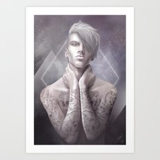 Dans la peau Art Print