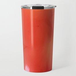 Soft Red Gladiola Travel Mug