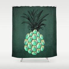 pineapple anatomy 4 Shower Curtain