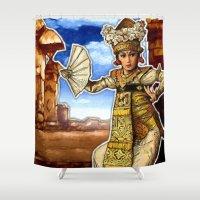 bali Shower Curtains featuring Bali Dancer by yadi sudjana
