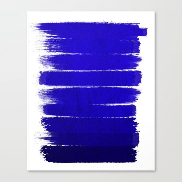 Shel - abstract painting painterly brushstrokes indigo blue bright happy paint abstract minimal mode Canvas Print