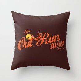 Out Run 86 Throw Pillow