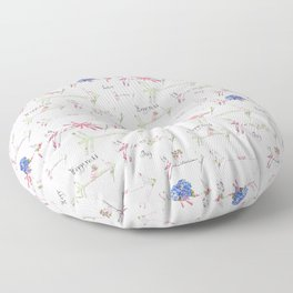 Happiness is a bouquet of shabby chic Floor Pillow