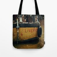 liverpool Tote Bags featuring That's Liverpool not Liverpoo =) by Mark Bagshaw Photography