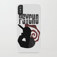 psycho iPhone & iPod Cases featuring Psycho by Vickn