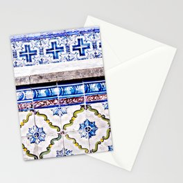 Portugal Tile, Azulejo Photo, Blue and White Lisbon Tiles Stationery Cards