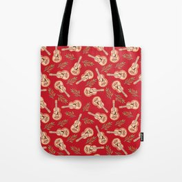 Rappa's ukelele on red Tote Bag
